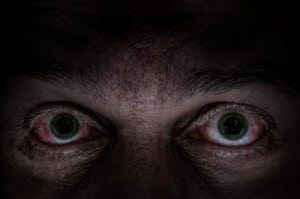 Scary green eyes